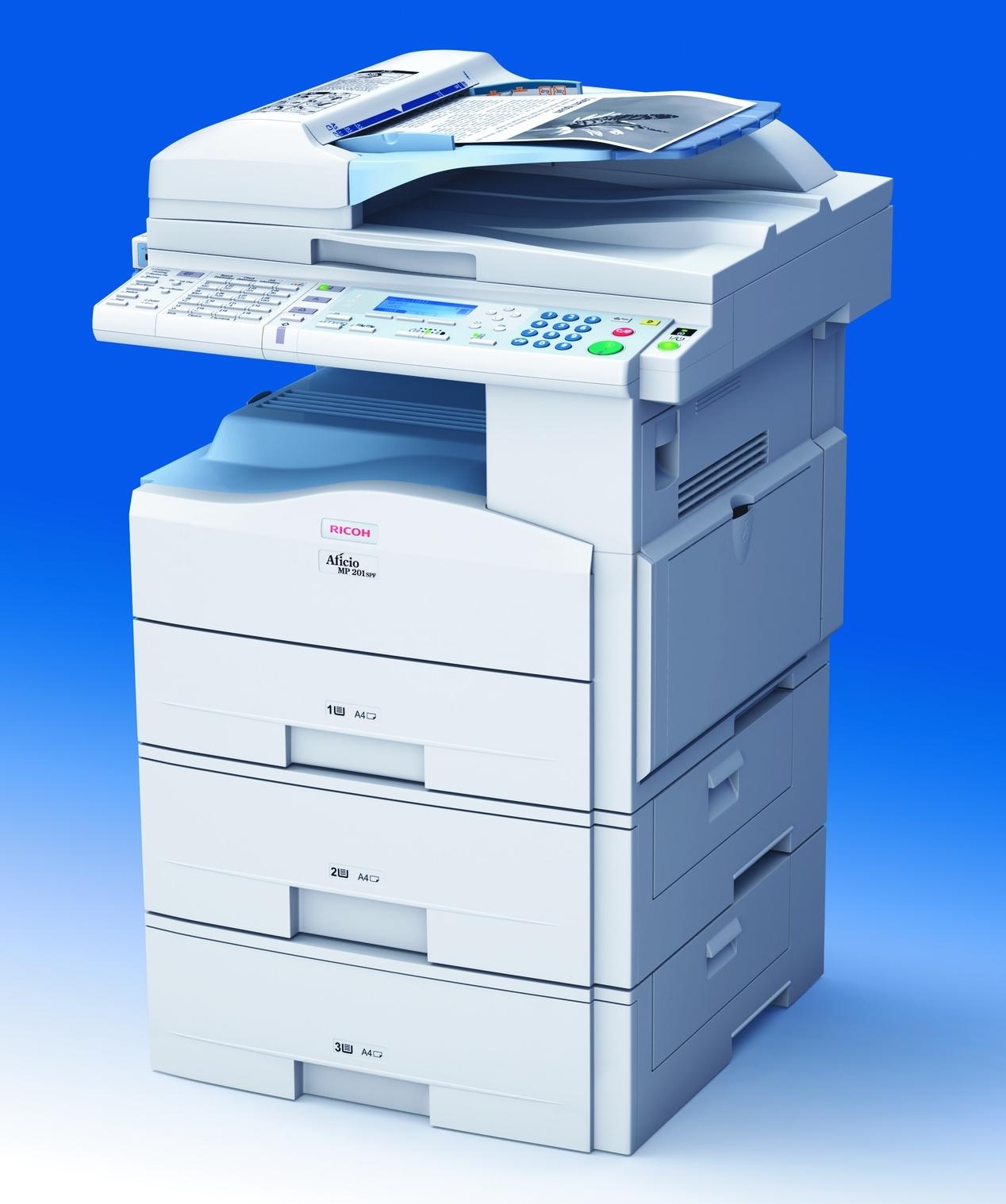 Foto 1 de 3 de la impresora Ricoh Aficio MP201SPF ...